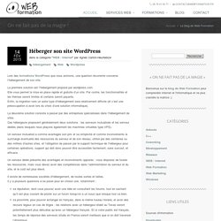 Comment héberger son site Wordpress