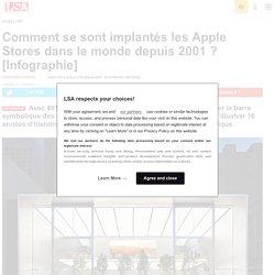 Comment se sont implantés les Apple Stores...