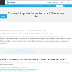 Comment importer les contacts de l'iPhone vers Mac