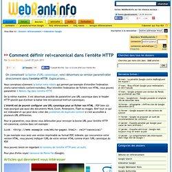 Comment indiquer une URL canonique dans l'entête HTTP