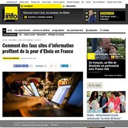 Comment des faux sites d'information profitent de la peur d'Ebola en France