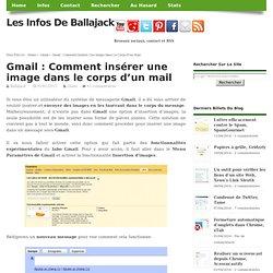 Gmail : Comment insérer une image dans le corps d'un mail