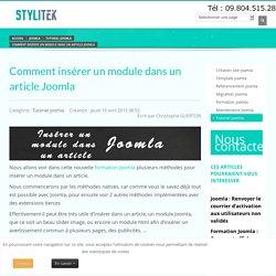 Comment insérer un module dans un article Joomla