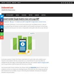 Comment installer Google Analytics dans votre page AMP