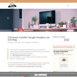 Comment installer Google Analytics sur son blog -