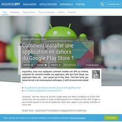Comment installer une apk sur Android