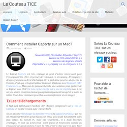 Comment installer Captvty sur un Mac?