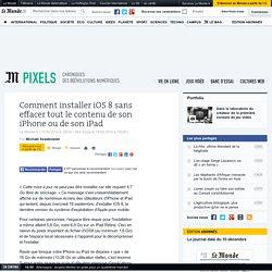 Comment installer iOS 8 sans effacer tout le contenu de son iPhone ou de son iPad