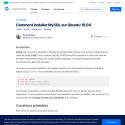 Comment installer MySQL sur Ubuntu 18.04
