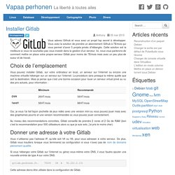 Comment installer Gitlab simplement ?