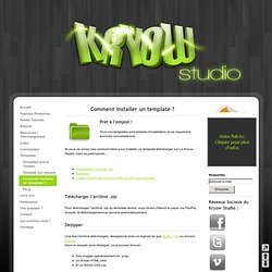 Comment installer un template ? - Kryow Studio