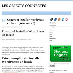 Comment installer Wordpress en Local. (Window XP)