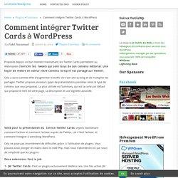 Comment intégrer Twitter Cards à WordPress
