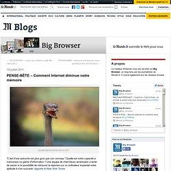 PENSE-BÊTE – Comment Internet diminue notre mémoire