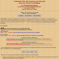 Comment citer des sources sur Internet dans un travail scientifique