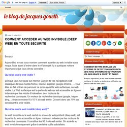 COMMENT ACCEDER AU WEB INVISIBLE (DEEP WEB) EN TOUTE SECURITE