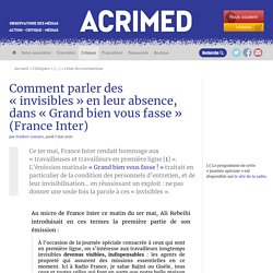 Comment parler des « invisibles » en leur absence, dans « Grand bien vous fasse » (France Inter)