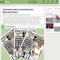 Comment créer un journal avec Microsoft Word