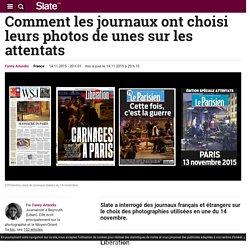 Comment les journaux ont choisi leurs photos de unes sur les attentats