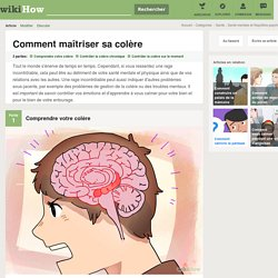 Comment maîtriser sa colère: 18 étapes - wikiHow