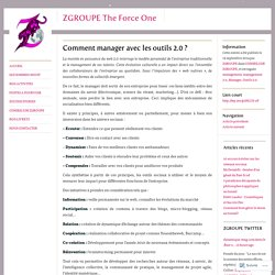 Comment manager avec les outils 2.0 ?