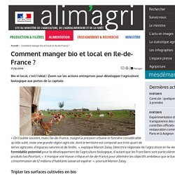 MAAF 17/12/14 Comment manger bio et local en Ile-de-France ?