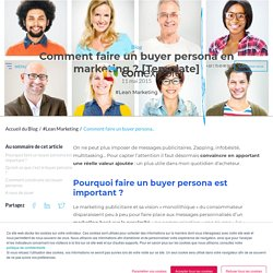 Comment faire un buyer persona en marketing ? [Template]
