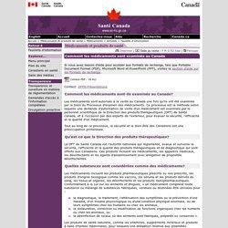 Comment les médicaments sont examinés au Canada