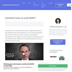 Comment mener un audit RGPD ?