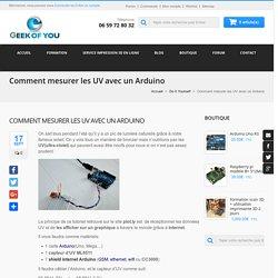 Comment mesurer les UV avec un Arduino
