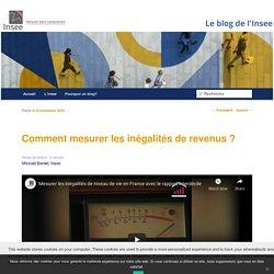 Comment mesurer les inégalités de revenus ? - Le blog de l'InseeLe blog de l'Insee