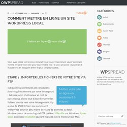 Comment mettre en ligne un site WordPress local