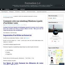 Comment créer une mindmap Mindomo à partir d'un fichier-texte