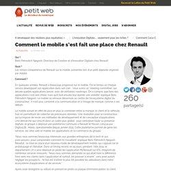 Comment le mobile s'est fait une place chez Renault