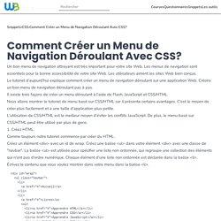 Comment Créer un Menu de Navigation Déroulant Avec CSS?