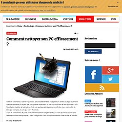 Nettoyage pc pearltrees - Nettoyer son pc poussiere ...