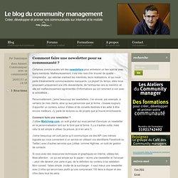 Comment faire une newsletter pour sa communauté ?