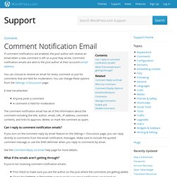 Comment Notification Email