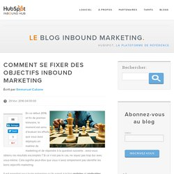 Comment se fixer des objectifs inbound marketing