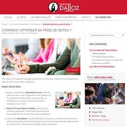 Comment optimiser sa prise de notes ? - Prépa Dalloz