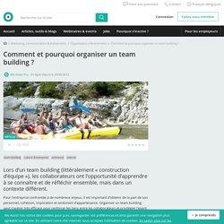 Comment et pourquoi organiser un team building ?