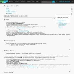 Comment organiser un Barcamp ?