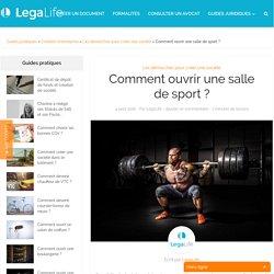 Comment ouvrir une salle de sport ? - LegaLife