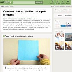 Comment faire un papillon en papier (origami)