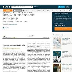 Comment le parti de Ben Ali a tissé sa toile en France