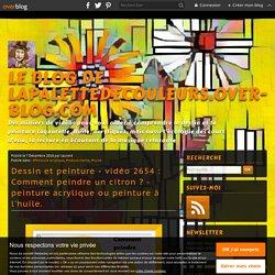 vidéo 2654 : Comment peindre un citron ? - peinture acrylique ou peinture à l'huile.