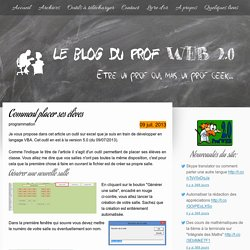 Comment placer ses élèves - Le site du prof web 2.0