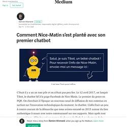 PAS UN CHATBOT (Comment Nice-Matin s'est planté avec son premier chatbot)