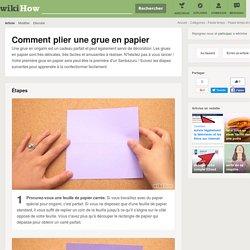 Comment plier une grue en papier: 19 étapes