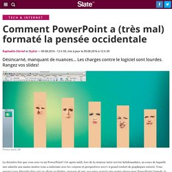 Comment PowerPoint a (très mal) formaté la pensée occidentale